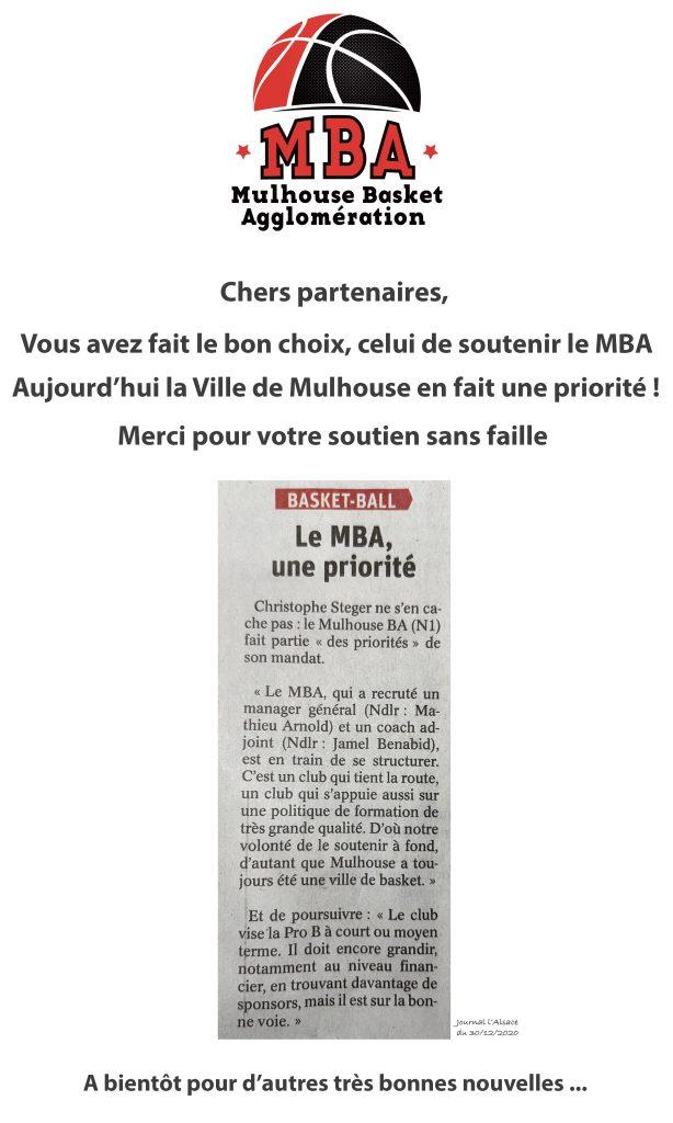Le MBA, une priorité